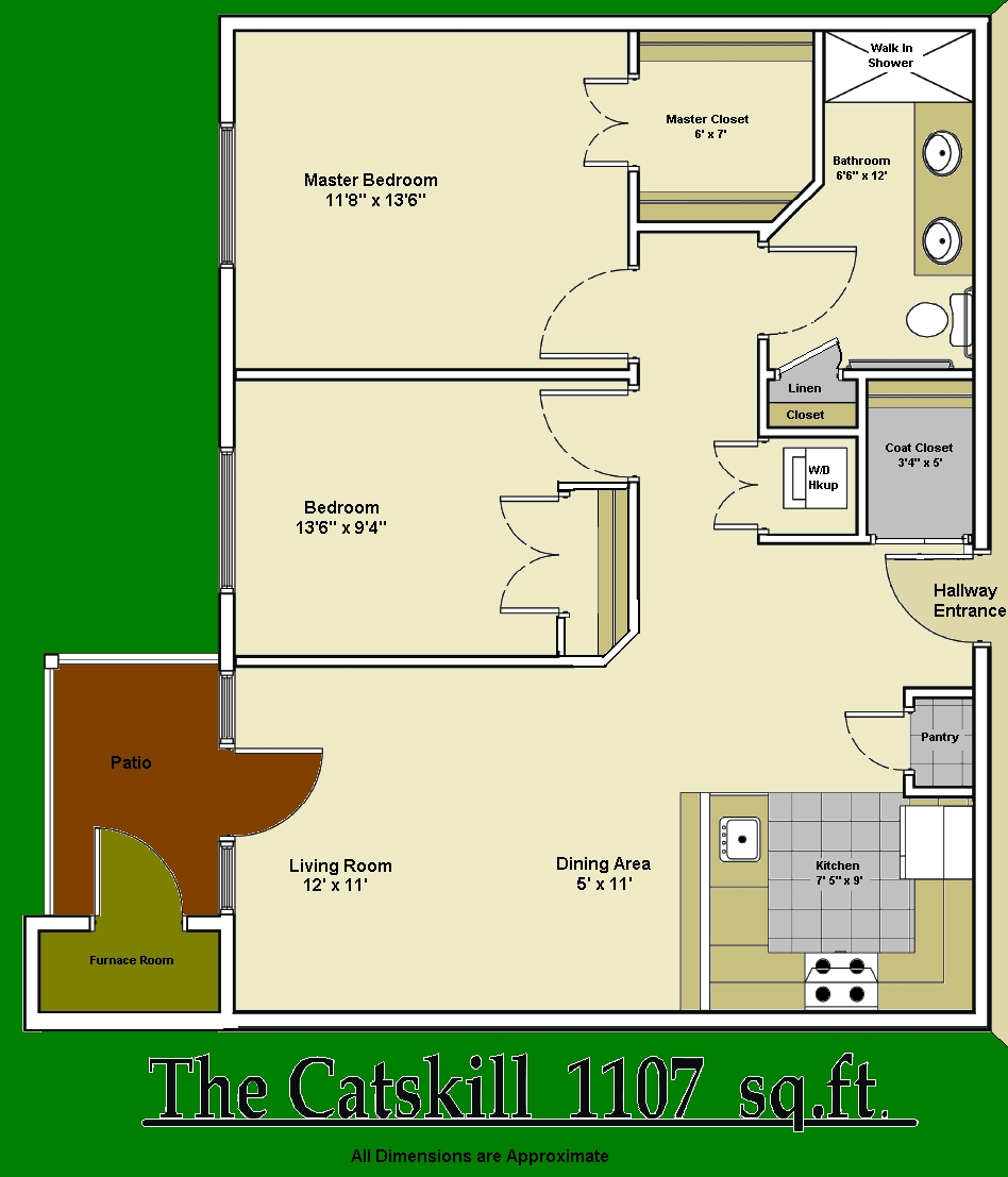 2 Bedroom Catskill