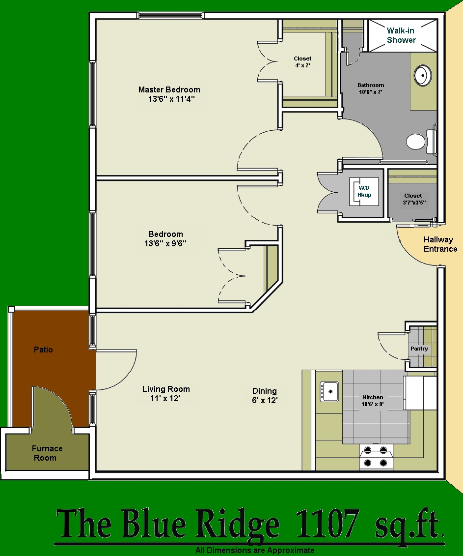 2 Bedroom Blue Ridge